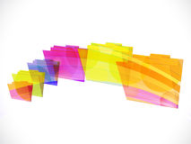 Folder rainbow Stock Photo