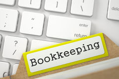 Folder Register with Bookkeeping. 3D. Stock Image