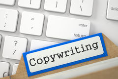 Folder Register with Copywriting. 3D. Royalty Free Stock Photography