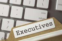 Folder Register Executives. 3D. Royalty Free Stock Photography