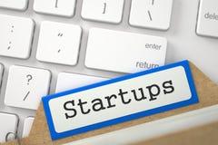 Free Folder Register With Startups. 3D. Stock Photo - 79114850