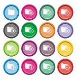 Folder Round Icon Sets Stock Images