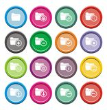 Folder round icon sets Stock Images