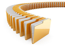 Folder row. 3d illustration of folders row on white background stock illustration