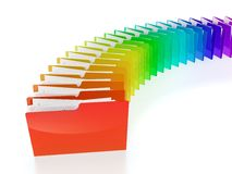 Folder row Stock Image