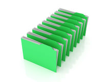 Folder row Stock Photography