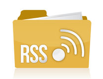 Folder rss Royalty Free Stock Photography