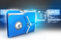 Folder with safe lock Royalty Free Stock Images