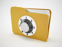 Folder security and safety icon Stock Image