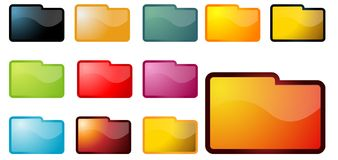 Folder Set Royalty Free Stock Photo