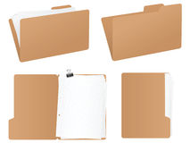 Folder set Royalty Free Stock Photos