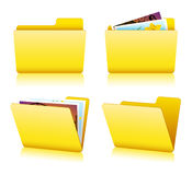 Folder set Stock Photography