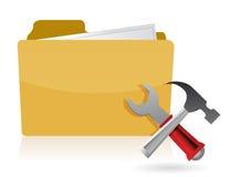Folder settings tools Stock Image