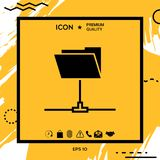 Folder sharing icon. Element for your design Royalty Free Stock Photography