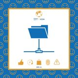 Folder sharing icon. Signs and symbols - graphic elements for your design stock illustration