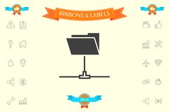 Folder sharing icon. Signs and symbols - graphic elements for your design royalty free illustration