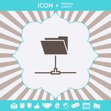 Folder sharing icon. Graphic elements for your design. Folder sharing icon . Signs and symbols for your designt vector illustration