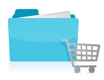 Folder with shopping cart Icon Royalty Free Stock Photography