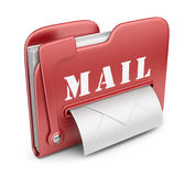 Folder is similar to mail box. 3D icon. Folder is similar to mail box. Email concept. 3D icon Royalty Free Stock Image