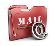 Folder is similar to mail box. 3D icon  Royalty Free Stock Image