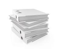 Folder stack. Illustration of white blank folder stack Royalty Free Stock Photos