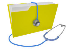Folder with stethoscope Stock Image