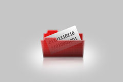 Folder for storage of files. The opened translucent folder for storage of files on the computer Royalty Free Stock Image