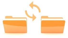 Folder with synchronization Royalty Free Stock Photos