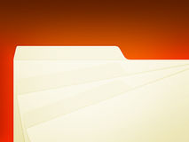 Folder tags. An illustration of 3 stack manila folders over red Royalty Free Stock Images