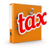 Folder and Tax (clipping path included) Royalty Free Stock Images