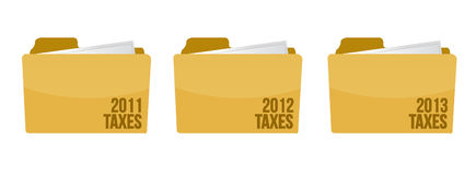 Folder with tax documents illustration. Design over white Royalty Free Stock Images