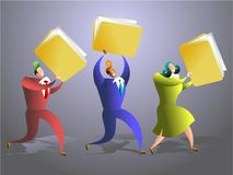 Folder team Royalty Free Stock Photos