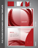 Folder Template Royalty Free Stock Photography