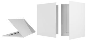 Folder template. Template briefcase bid two cardboard bending 3d Royalty Free Stock Photos