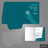 Folder template design Royalty Free Stock Image