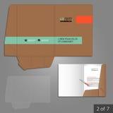 Folder template design Stock Images