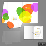 Folder template design Royalty Free Stock Photography