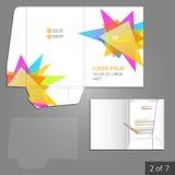 Folder template design Royalty Free Stock Photo