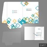 Folder template design Stock Photography