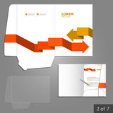 Folder template design Stock Images
