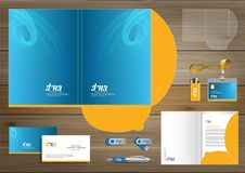 Folder Template design for digital technology company. Element of stationery, people community friends presentation design used fo. Vector abstract Folder Stock Photos