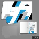 Folder template design Royalty Free Stock Image