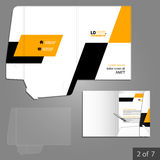 Folder template design Stock Photography