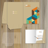 Folder template design Royalty Free Stock Images