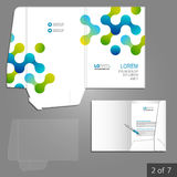 Folder template design Royalty Free Stock Photos