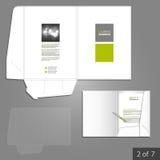 Folder template design Royalty Free Stock Photos