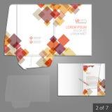 Folder template design Royalty Free Stock Images