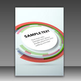 Folder template with round colorful design element Stock Photos
