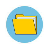 Folder thin line icon, portfolio filled outline vector logo illu Stock Images