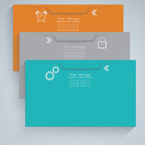 Folder. Three folders green orange and gray Royalty Free Stock Photos